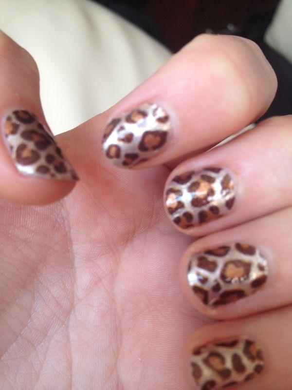 Amy's nails - Sally Hansen Nail Foils