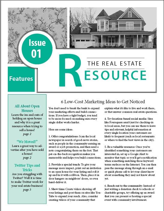 realtor newsletter templates - 16 best newsletter template ideas images on pinterest