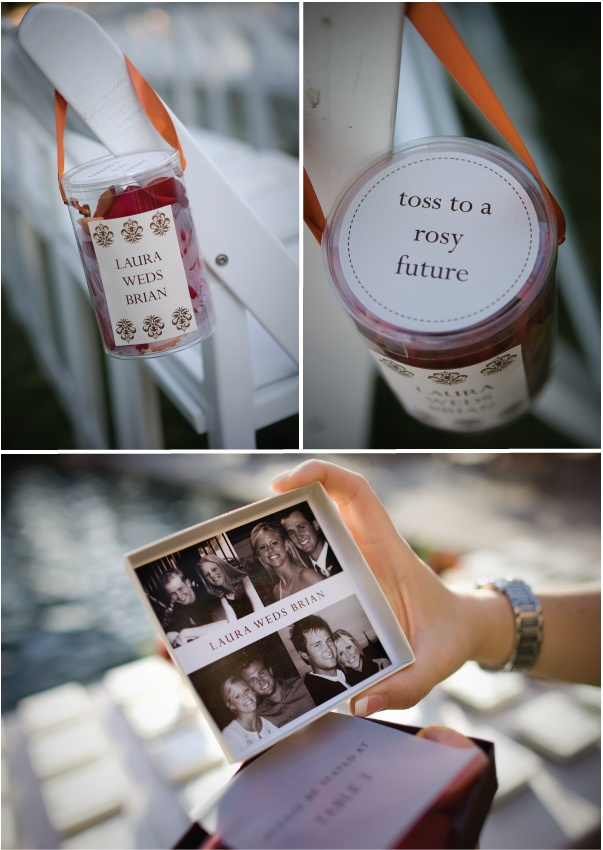 Good idea for tossing rose petals when heading back down the aisle