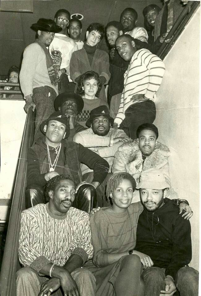 Vintage hiphop luminaries, some you'll recognize others you won't. In no particular order: Songwriter Larry Smith (RunDMC, Fatboyz), Vivian Scott nee Chew. LL Cool J, Run DMC, Russell Simmons, Andre Harrell,