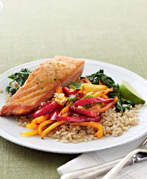 Salmon with Peppers