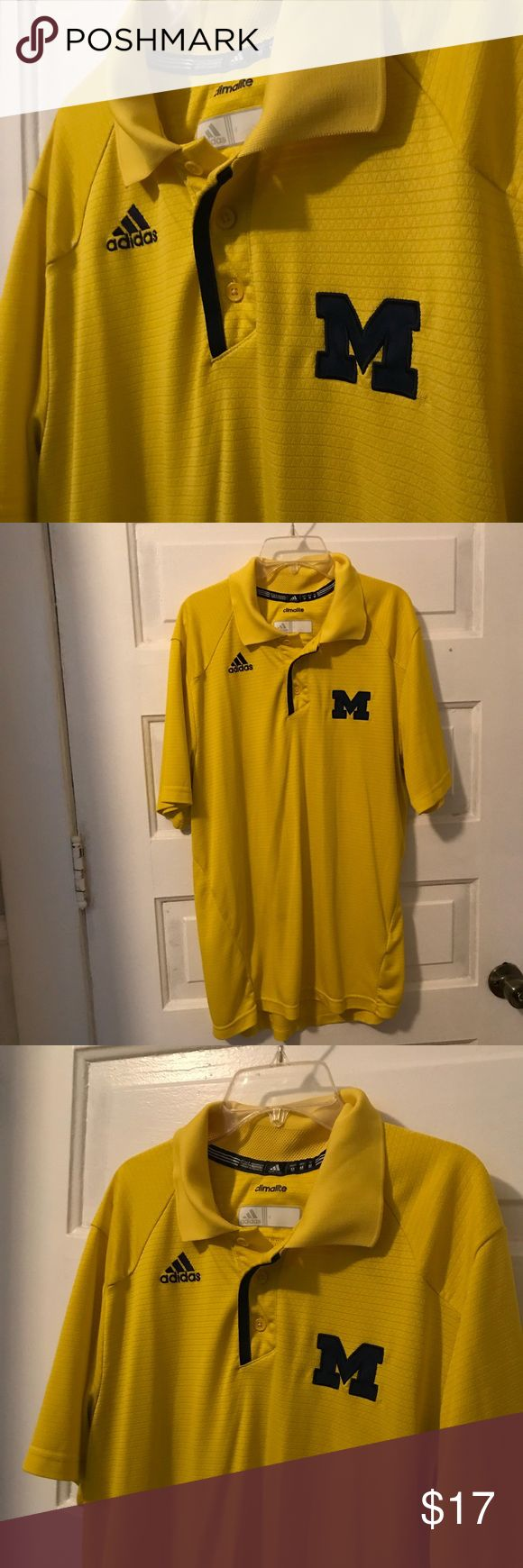 Men's Adidas Michigan University Shirt Men's Adidas Michigan University Shirt. Size medium adidas Shirts Polos