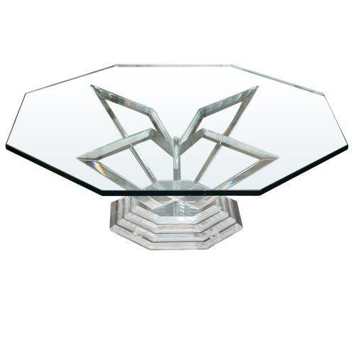 Vintage Octagonal Lucite Table