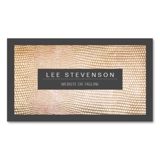 Chic Gold Snake Skin Fashion Business Card. Make your own business card with this great design. All you need is to add your info to this template. Click the image to try it out!