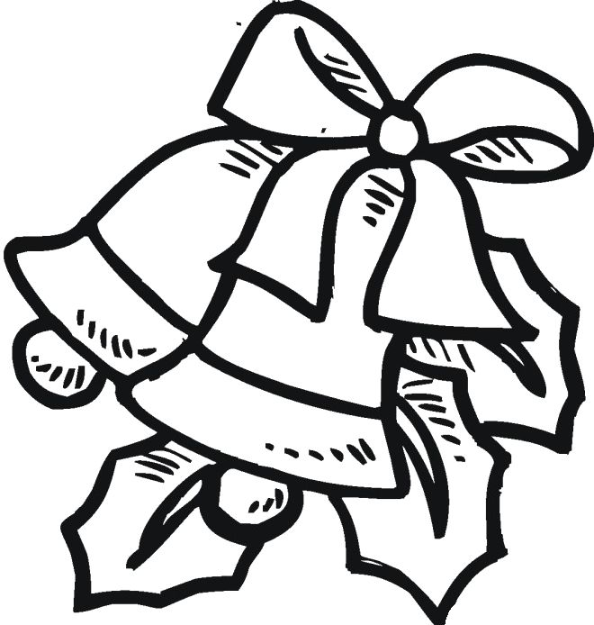 Christmas Bell Outline Coloring Pages