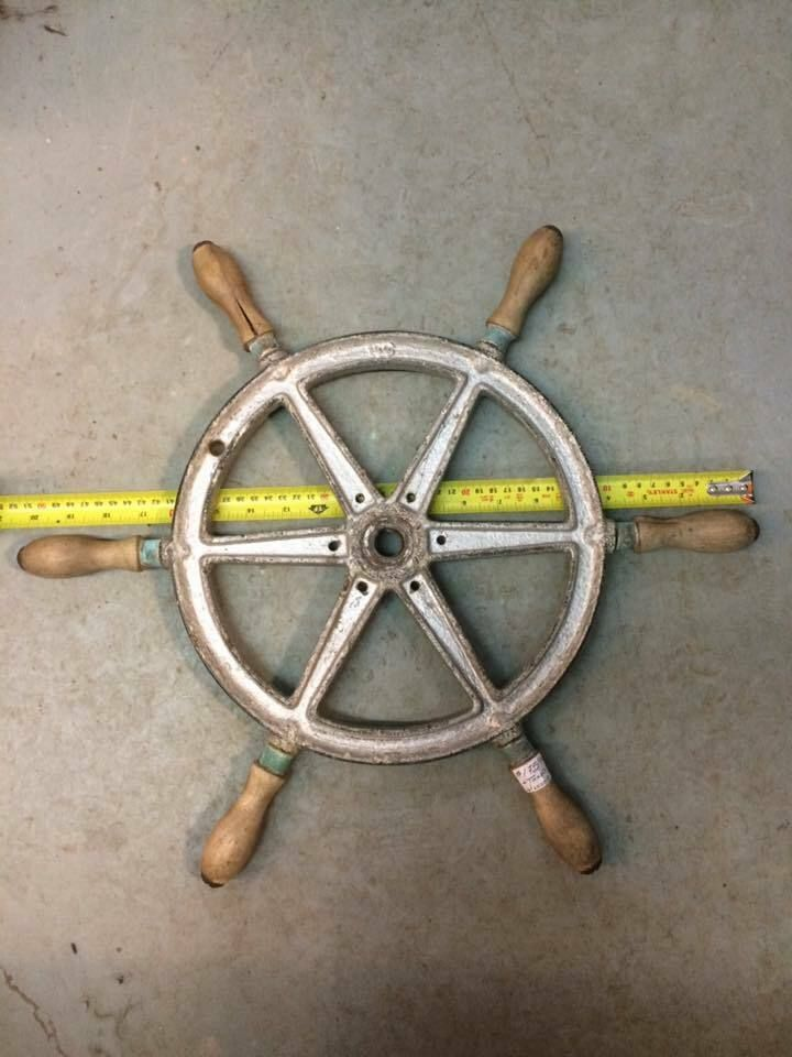 Vintage Wc Wilcox Crittenden Boat Steering Wheel 20 Inches Antique Vintage Beach Decor Antiques Boat Steering Wheels