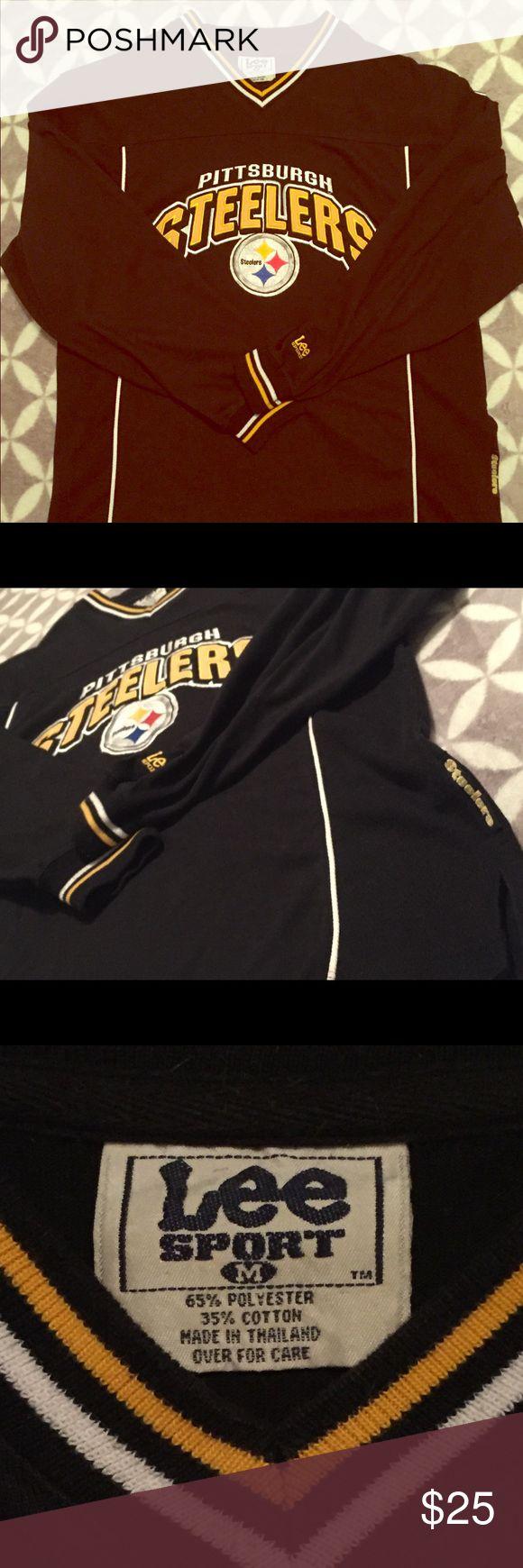 Lee Sport Steelers sweatshirt This Steelers sweatshirt is in perfect condition. Size medium. Open to offers. Lee Sport Sweaters V-Neck