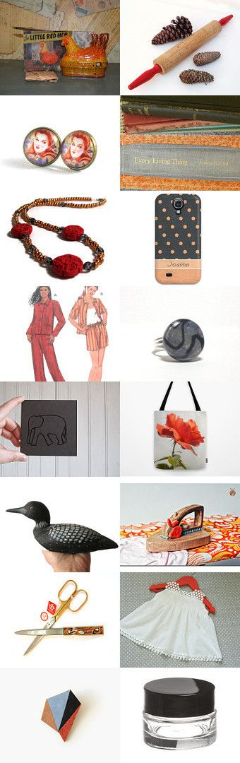 The Little Red Hen and Autumn by Pam on Etsy--Pinned with TreasuryPin.com
