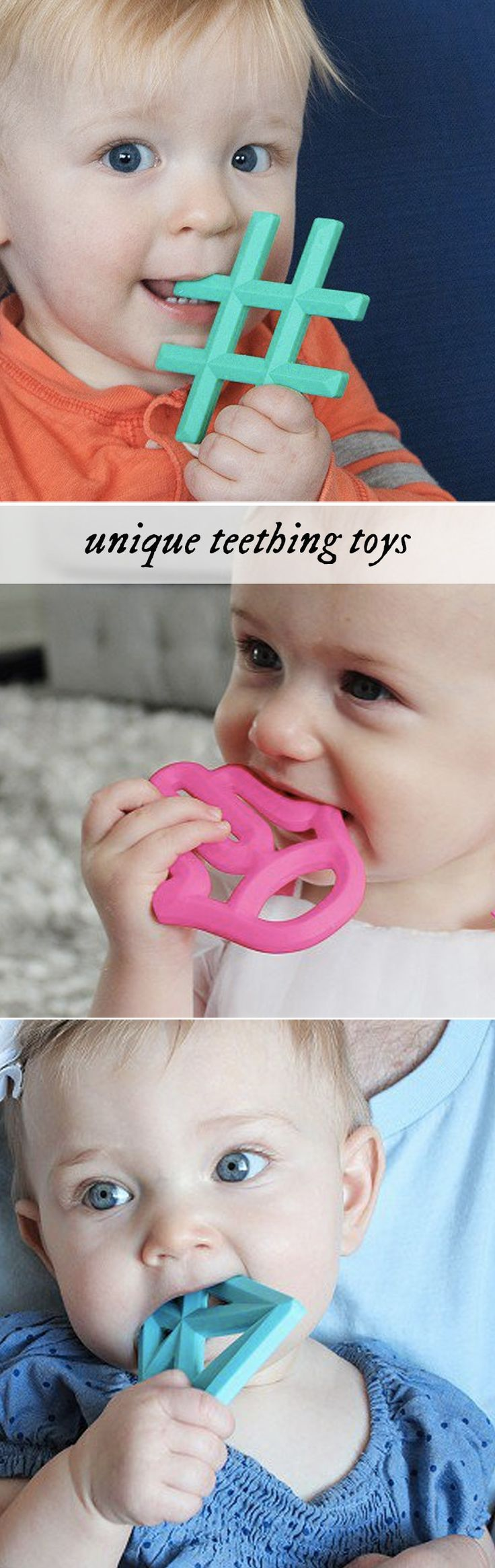 Little Standout Founder Staci Civins created teething toys from her own fresh designs to reflect the interests of modern parents—hip people who appreciate more personality in toys for their little ones.