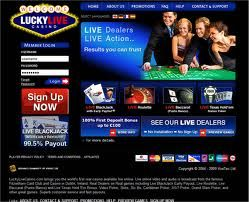 LuckyLiveCasino.com is a live online casino with real dealers. Play live roulette, live blackjack, live baccarat, and live Texas Hold'em Bonus Poker directly from the famous Fitzwilliam Card Club and Casino in Dublin, Ireland. Webcam video feeds broadcast from the exclusive Fitzwilliam Card Club and Casino in Dublin, Ireland give players the most authentic and realistic experience from your own computer. Real Dealers on Real games including Live BlackJack Early Payout.