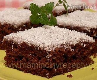 Kefírový koláč s citrónovou polevou a kokosom (fotorecept)