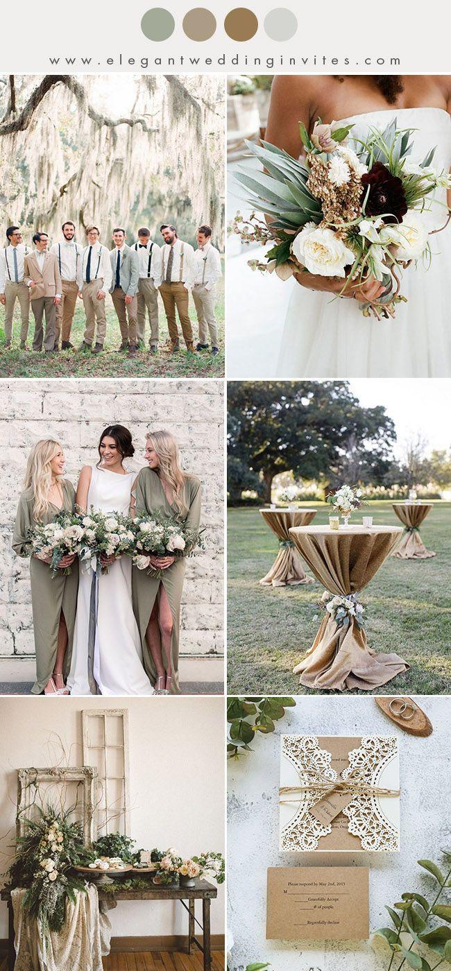 10 Chic Earth Tone Fall And Winter Wedding Color Combos Elegantweddinginvites Com Blog Winter Wedding Colors Fall Wedding Colors Wedding Colors