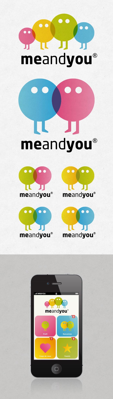 Client : MeAndYou / Création d'un logo et du design de l'application mobile / Graphiste freelance, illustrateur, webdesigner