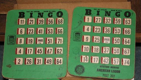 Vintage Bingo King Bingo Cards