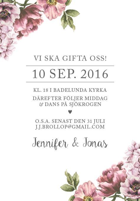 Blomsterhörn - Ett nytt inbjudningskort från Anna Göran Design