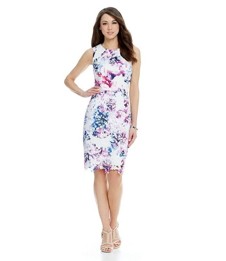 Antonio Melani Fay Printed Scuba Sheath Dress