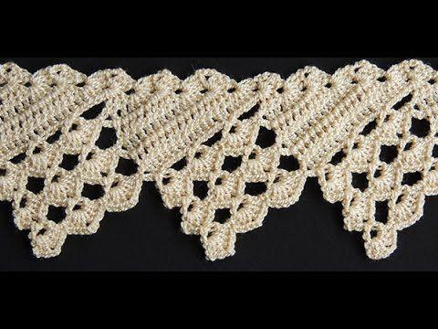 Puntillas o bordes crochet para manteles / 3 Tutoriales | Crochet y ...