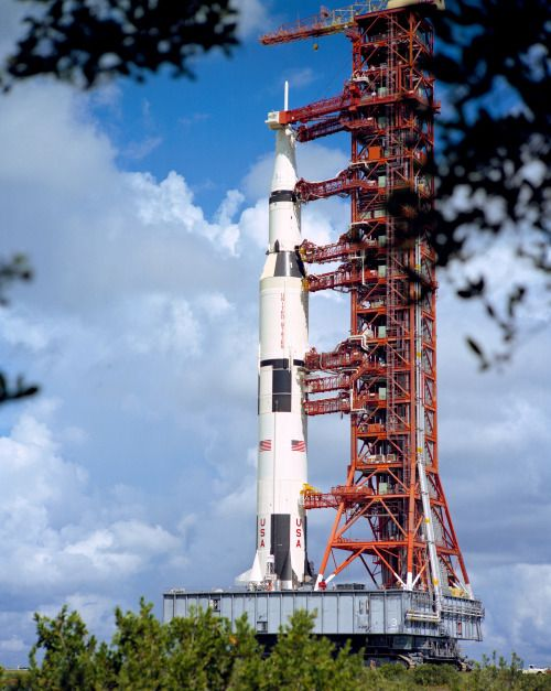 August 28, 1972 – Atop the slow-but-sturdy crawler-transporter, the Apollo 17…