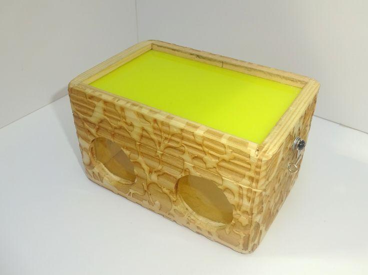 NB wooden box.