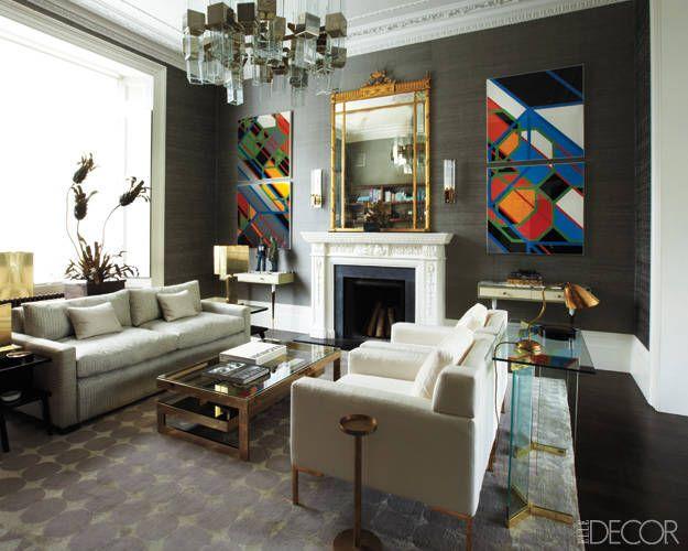 Grand Gestures: Notting Hill, London: Interior Design, Idea, Peter O'Toole, Living Rooms, Elle Decor, Color, Interiors, Notting Hill