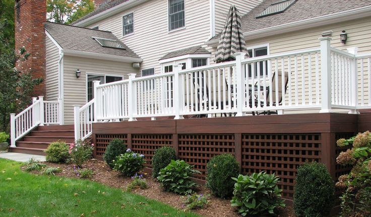 Lattice under deck outside pinterest deck skirting for Under porch ideas