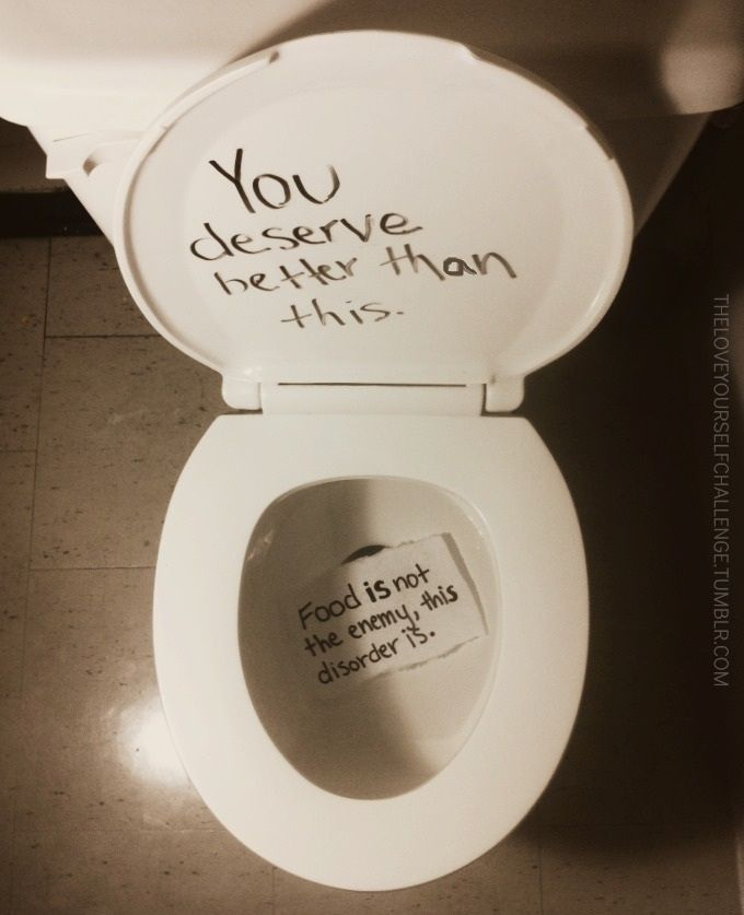 This post was supposed to be about eating disorders, but I'm not going to lie; I thought it was about explosive diarrhea at first...#fail