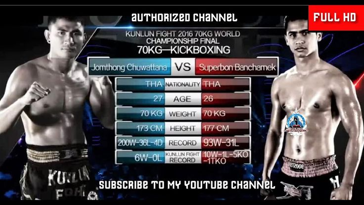Superbon Banchamek THAI vs Jomthong Chuwattana THAI   Kunlun 56 WORLD MA...