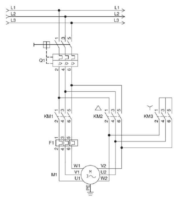Esquema De Fuerza Arranque Estrella Triángulo Imagenes De Electricidad Esquemas Electricos Diagrama De Circuito Eléctrico