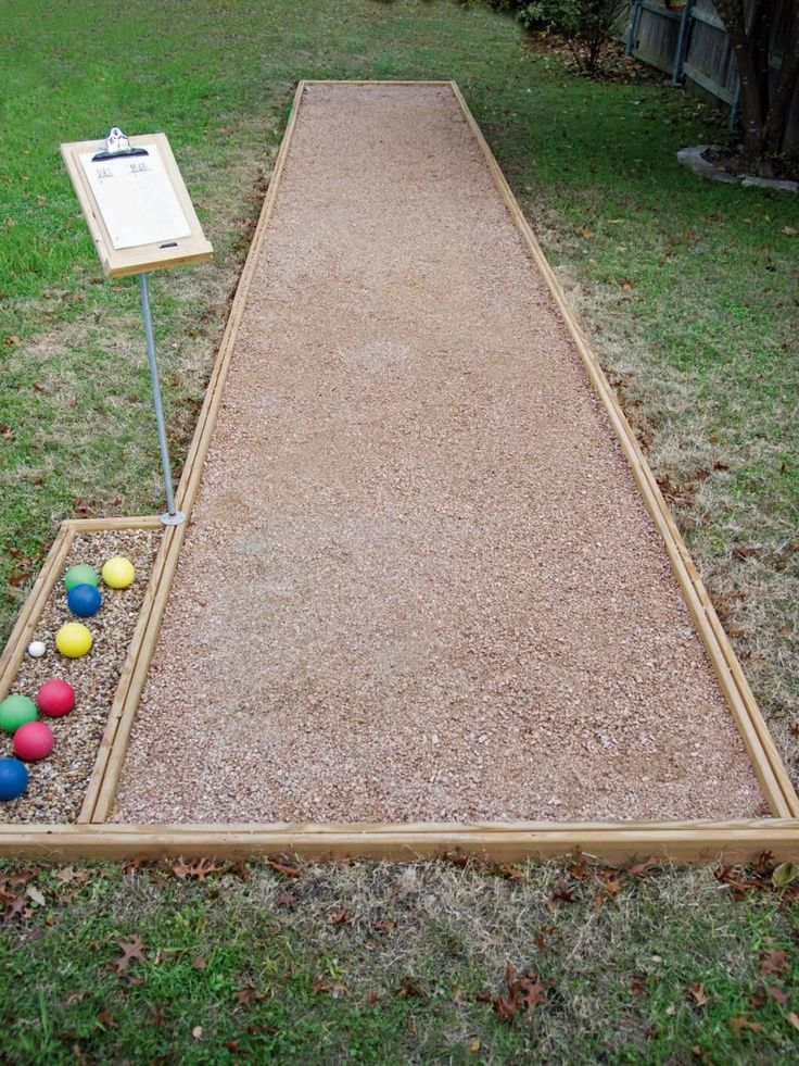 Learn how to build a backyard bocce ball court, complete