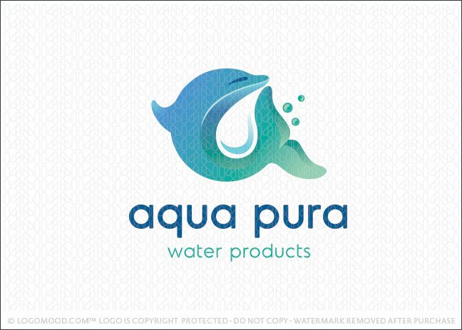 Logo for sale: Simple and flowing dolphin logo design with the dolphin ...