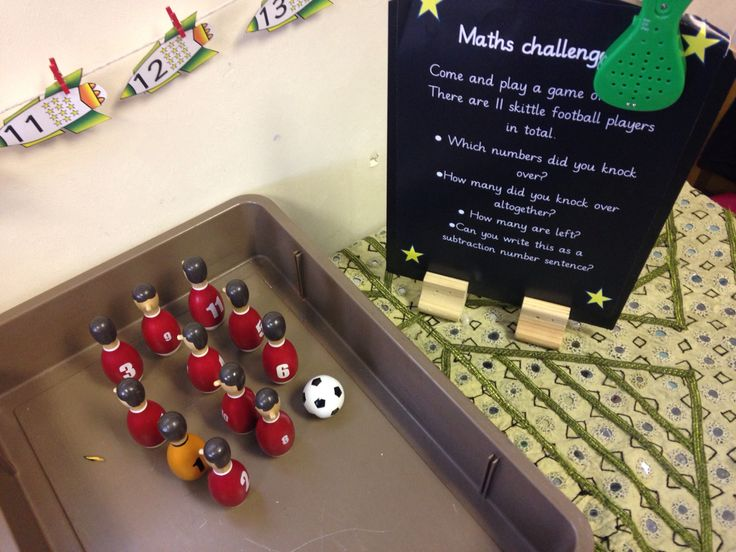 Skittles for subtraction or taking away. Early years maths area. -by EYchloe.