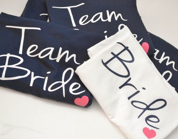 Bride and Team Bride Wedding party Tshirts by AnchorAvenueDesigns, $14.00