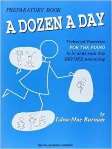 Ejercicios para piano a dozen a day