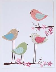 these birds are cute... so easy to put on a card with awesome scrap paper!