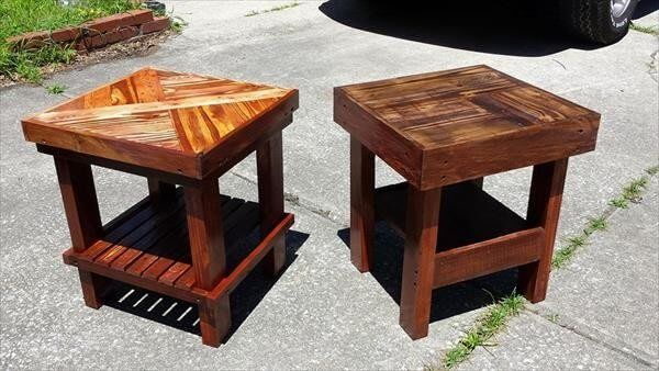 Here we are going to present 15 DIY side tables /end tables projects made from recycled wood pallets, to provide you something outstanding for your indoor, outdoor, bedroom as well as for your garden. These creative up-cycled wood pallets side table projects are crafted as according to your desires, demands, and needs.