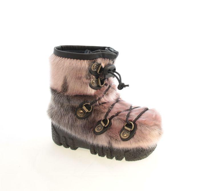 Bottes de bébés loup-marin rose / Pink seal baby boots