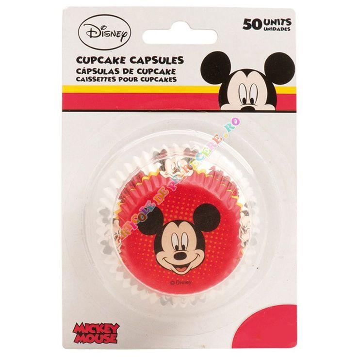 Forme briose Mickey Mouse - Articole Petrecere Accesorii prajituri - Accesorii Petrecere Forme briose Mickey Mouse