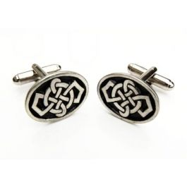 Modern Celtic Design Cufflinks - These cufflinks are made from high quality pewter which have been designed as a set of moder Celtic knots.  Just the thing for the true blue Scots Man.