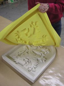 This rubber is a very popular option for making molds to cast concrete - veneer stone, architectural cast stone elements, concrete countertops, and more.