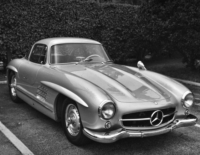 Mercedes 300sl 300 Sl Gullwing Hd Poster Super Car B W