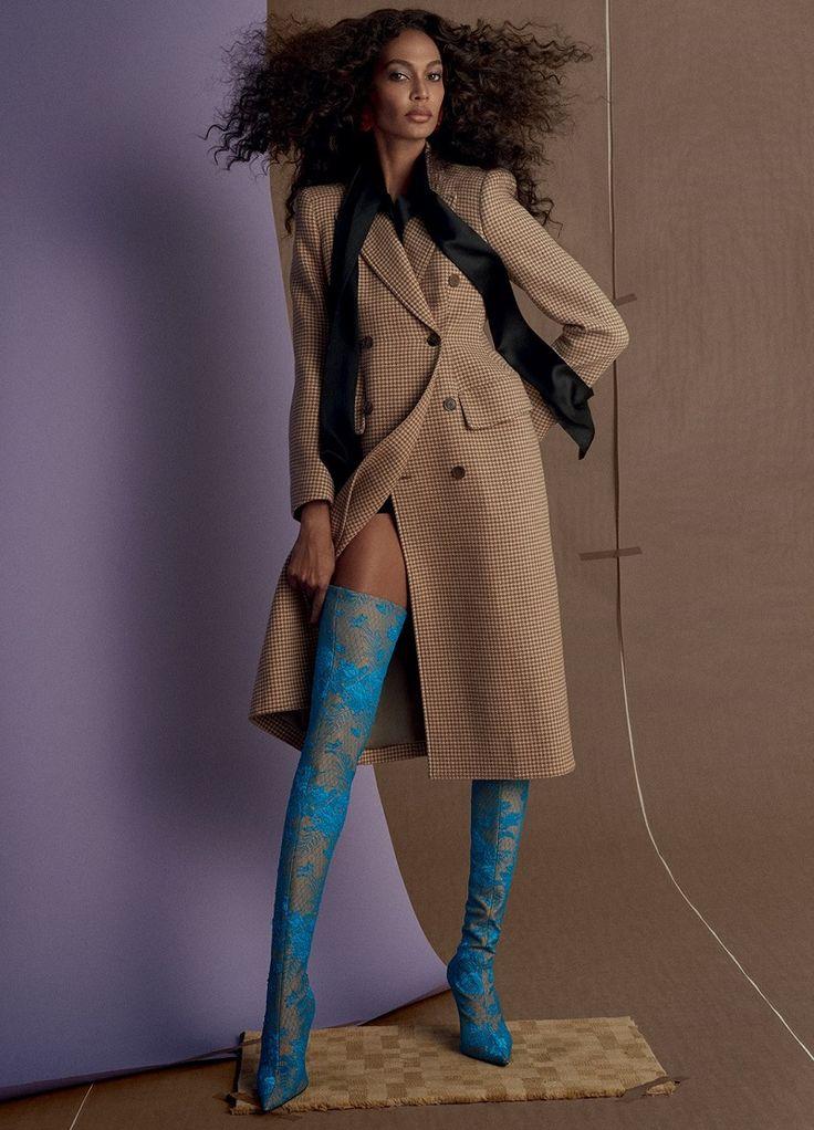 Tendências Inverno Exibidos pela Modelo Joan Smalls para Vogue Brasil Junho 2017  Fragmentos de Moda