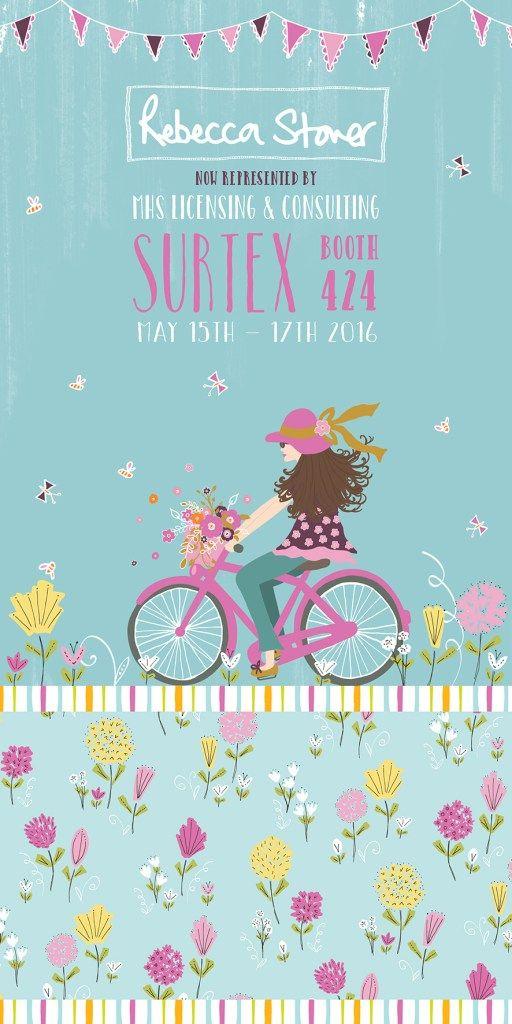 Surtex Happy Days Flyer by Rebecca Stoner #surtex #surtexflyer #surtex2016