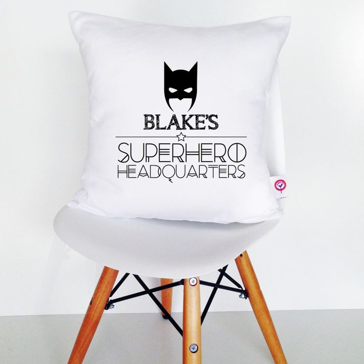 Personalised black and white cotton cushion cover (various designs) | hardtofind.