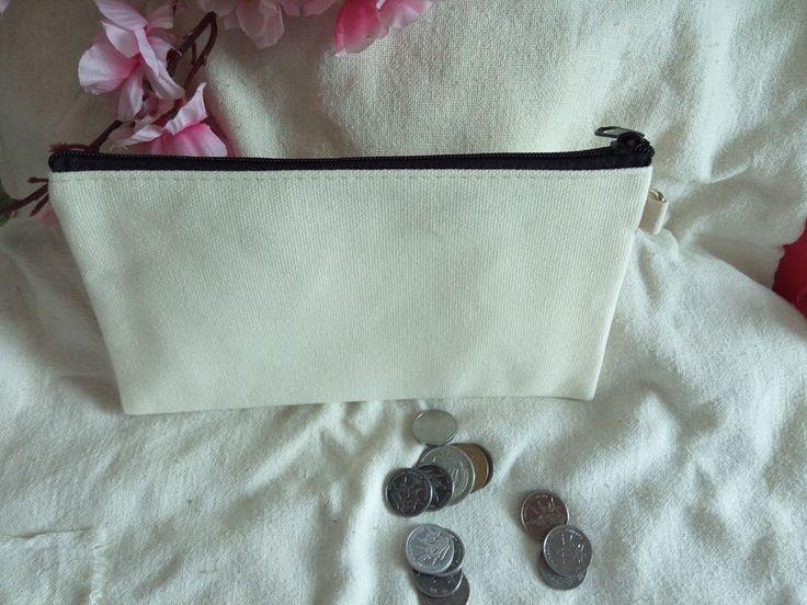 20x DIY Eco Blank Plain Canvas Makeup Bags Purse Wallets Phone Pouch Pencil Case #Unbranded