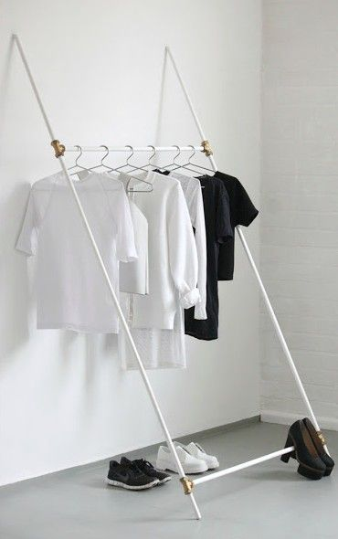 DIY Clothing Rack; cheap racks don't do the work - they need solid stabilization