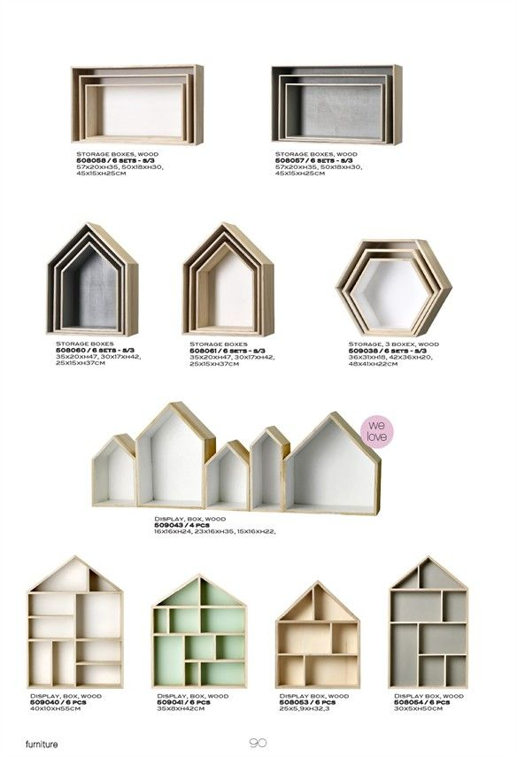 bloomingville boxes for the wall my style pinterest kid shape and boxes. Black Bedroom Furniture Sets. Home Design Ideas