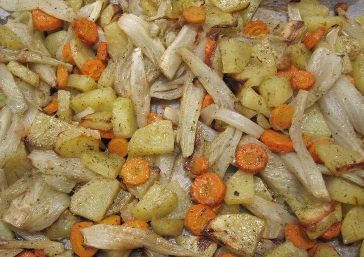 Finocchi, patate e carote al forno