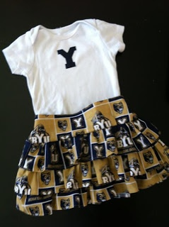 BYU Game Day outfit.  The shirt honestly only took 5 minutes - super easy and super cute!