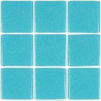 Mosaïque émaux de verre , bleu cyan par plaque de 33.5 par 33.50 cm- Achat mosaique salle de bain