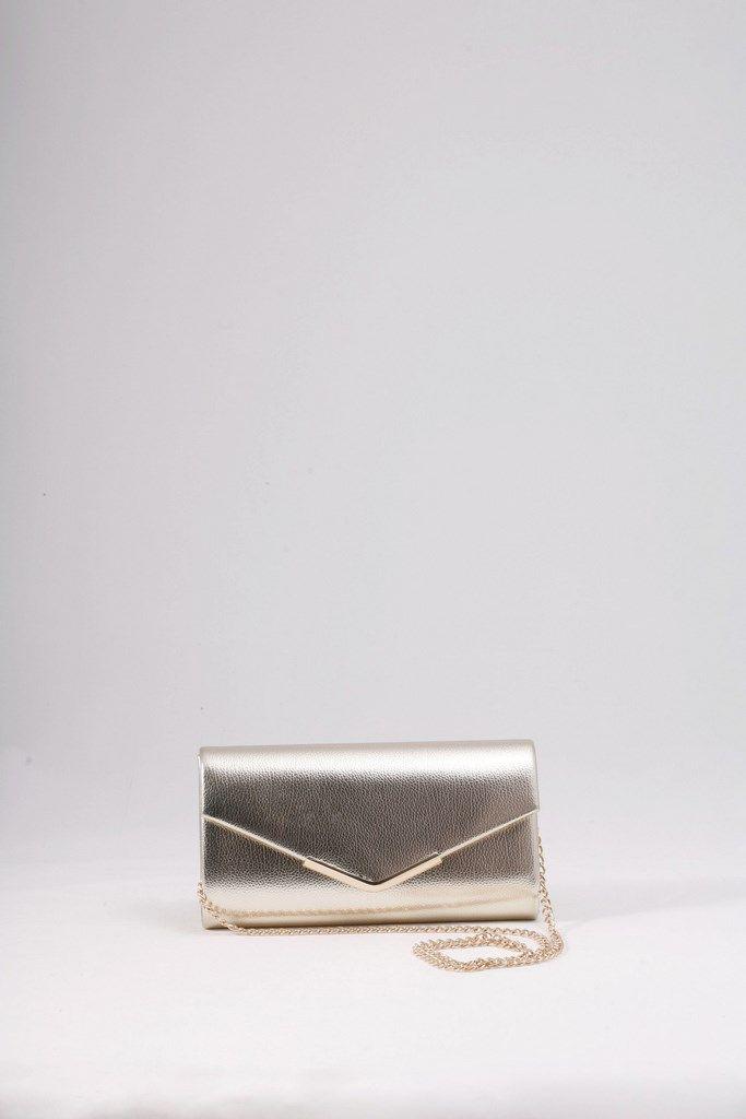 Τσάντα φάκελος χρυσός με ωραία μαλακή υφή και χρυσό  μεταλλικό τελείωμα στο καπάκι. ΚΩΔ.: 117.033 ΤΗΛ: 2510241726